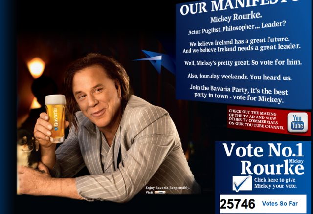 Vote Mickey Rourke