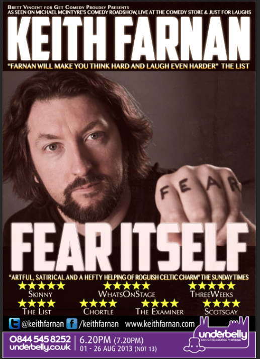 Fear Itself at the Edinburgh Fringe Festival