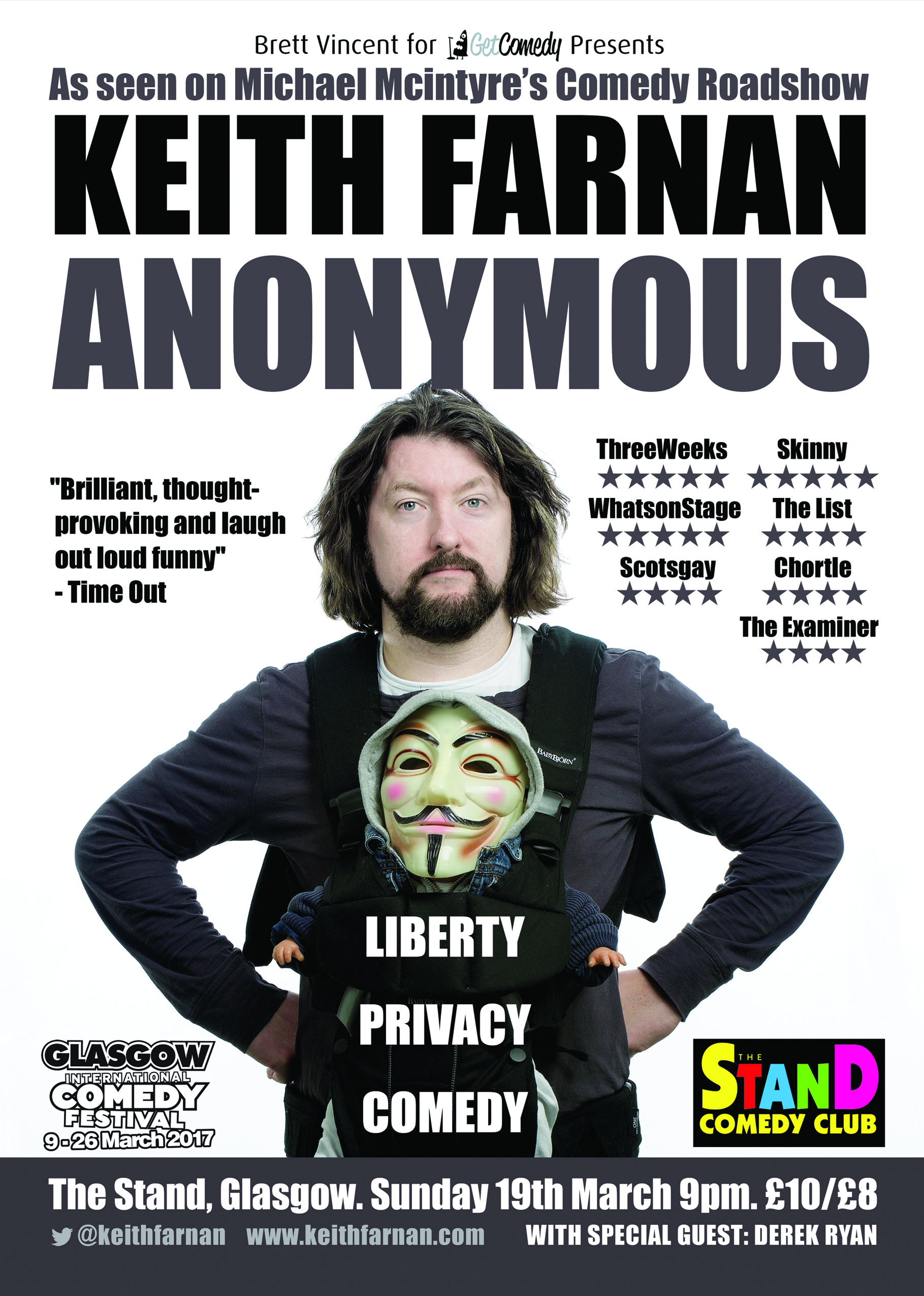 March 19th – Anonymous at the Glasgow International Comedy Festival
